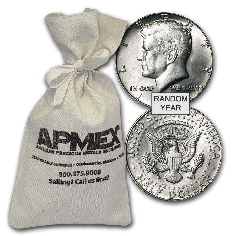 40% Silver Coins $100 Face Value Bag Avg Circ